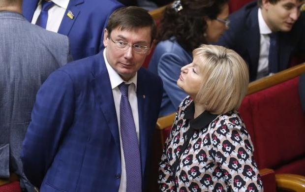 Юрій та Ірина Луценко. Фото: unian.ua